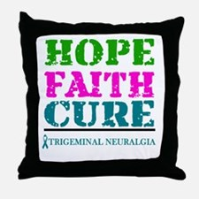 Hope Faith Cure Trigeminal Neuralgia Throw Pillow