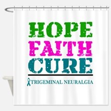 Hope Faith Cure Trigeminal Neuralgia Shower Curtai