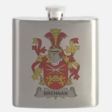 Brennan Family Crest Flask