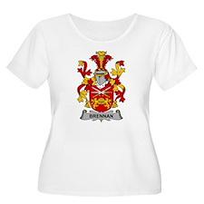 Brennan Family Crest Plus Size T-Shirt
