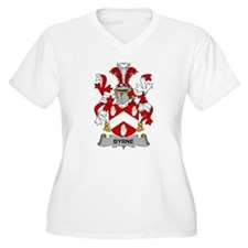 Byrne Family Crest Plus Size T-Shirt