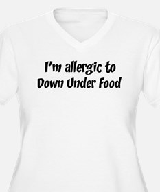 Allergic to Down Under Food T-Shirt