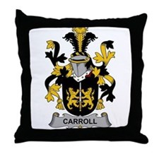 Carroll Family Crest Throw Pillow