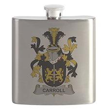 Carroll Family Crest Flask