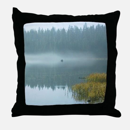 Rowboat Fishermen Throw Pillow