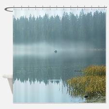 Rowboat Fishermen Shower Curtain
