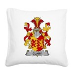 Clary Family Crest Square Canvas Pillow