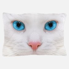 WHITE  CAT Pillow Case