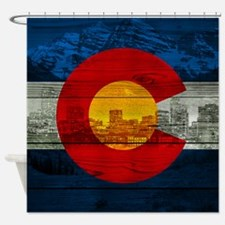 Colorado Flag Shower Curtain