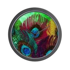 Colorful Peacock Wall Clock