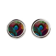 Colorful Peacock Cufflinks