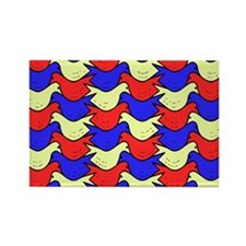 Red, Yellow and Blue Birds Rectangle Magnet