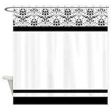 Elegant Damask Shower Curtains