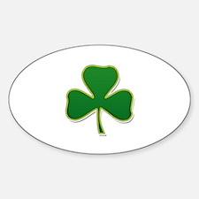 Irish Shamrock Sticker (Oval)