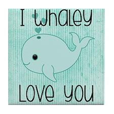 Whaley Love You Tile Coaster