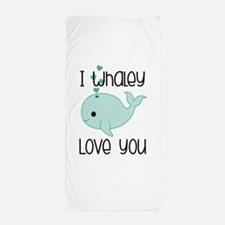 Whaley Love You (2) Beach Towel