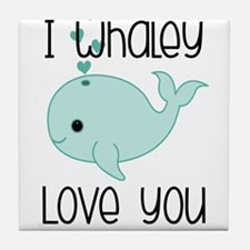 Whaley Love You (2) Tile Coaster