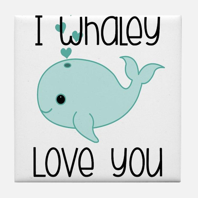 Whaley Love You (2) Tile Coaster