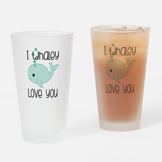 Whaley Love You (2) Drinking Glass