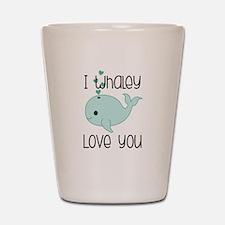 Whaley Love You (2) Shot Glass