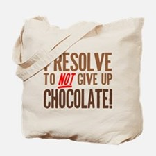 Chocolate Resolution Tote Bag