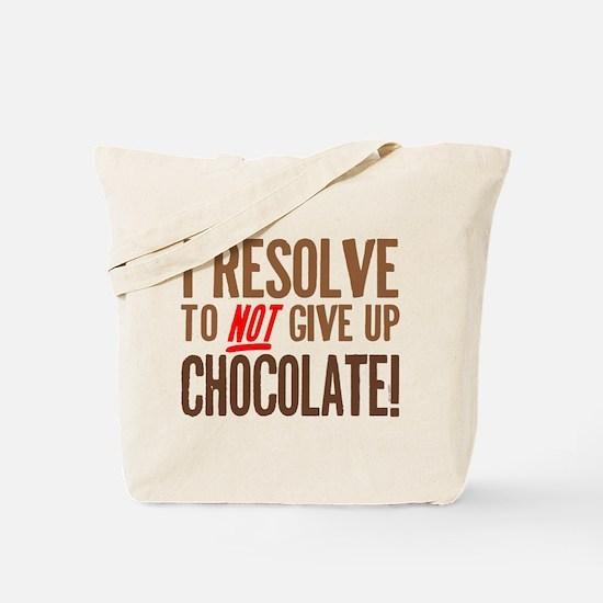 Chocolate Resolution Tote Bag