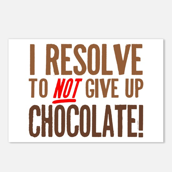 Chocolate Resolution Postcards (Package of 8)