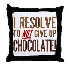Chocolate Resolution Throw Pillow