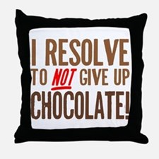 Chocolate Resolution Throw Pillow