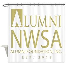 Alumni Foundation Logo Gold Shower Curtain
