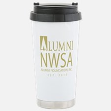 Alumni Foundation Logo Gold Travel Mug