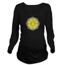 Om Mandala Long Sleeve Maternity T-Shirt