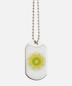 Om Mandala Dog Tags