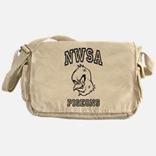 NWSA BW Pigeons Messenger Bag
