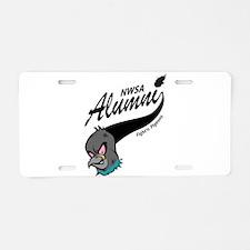 Alumni Athletic Swoosh Aluminum License Plate