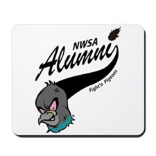 Alumni Athletic Swoosh Mousepad