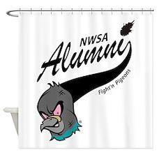 Alumni Athletic Swoosh Shower Curtain