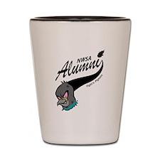 Alumni Athletic Swoosh Shot Glass