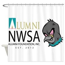 NWSA Alumni Foundation with Pigeon Shower Curtain