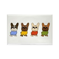 Dressed Lineup Rectangle Magnet (10 pack)