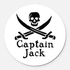 Captain Jack Round Car Magnet