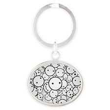 Smile Oval Keychain
