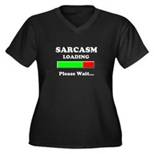 Sarcasm Loading Please Wait Women's Plus Size V-Ne
