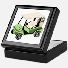 Golf Cart Keepsake Box