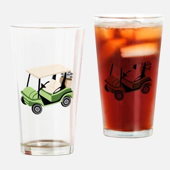 Golf Cart Drinking Glass