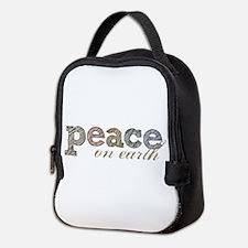 Peace on Earth Neoprene Lunch Bag