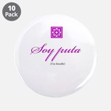"Puta / Friendly 3.5"" Button (10 pack)"
