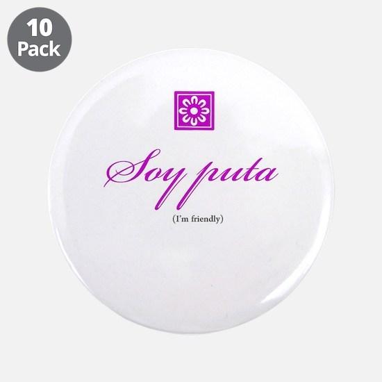 "Puta / Friendly 3.5"" Button (10 pack)"