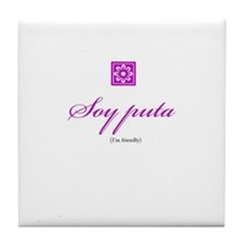 Puta / Friendly Tile Coaster