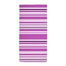 Pink Striped Beach Towel